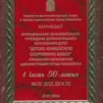 """В честь 55-летия МОУ ДОД """"ДЮСШ"""""""