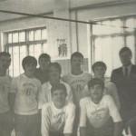 Команда юношей по волейболу с тренером Кузьминым Н.Ф. 1972 г.